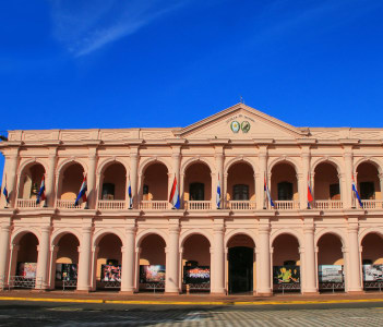 Town Council building (Cabildo) in Asuncion Paraguay. It is home for Cultural Center of the Republic of Paraguay.