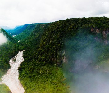 Kaieteur waterfall one of the tallest falls in the world at potaro river Guyana