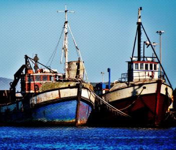 Retired fishing boats in the Velddrif harbour