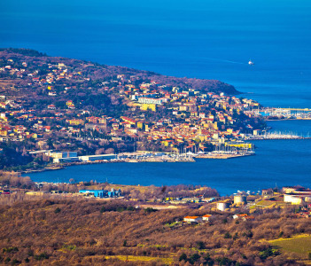 Kopar and Izola coastal towns of Slovenia view