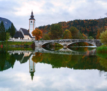 Church Tower at Lake Bohinj, Slovenia