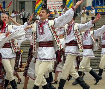 People on Chisinau Day
