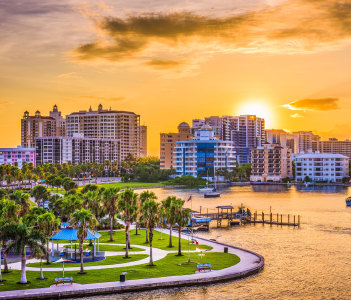Sarasota Florida USA downtown skyline