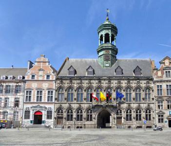Grand Place square in Mons Belgium