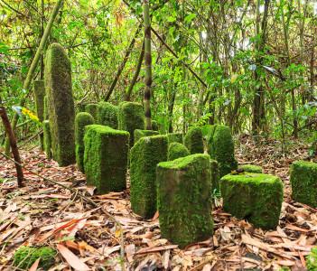 Betsileo memorial stones in Ranomafana National Park, Madagascar