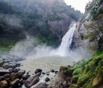 Dunhinda Falls is a Waterfall located about 5 Kilometres from Badulla Town, Sri Lanka