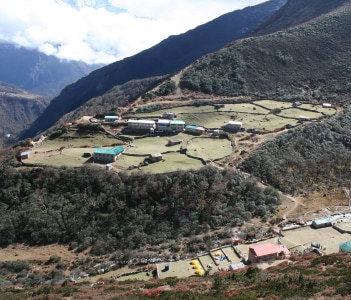 The village of Dole in the Himalayas, Nepal
