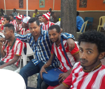 With Fasil Kenema supporters