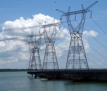Power Lines and Itaipu Lake