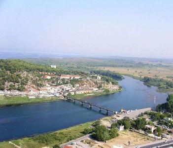 Buna River at Shkoder, Albania.