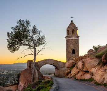 World Peace Bridge atop Mount Rubidoux Park is an important landmark and religious site in Riverside USA