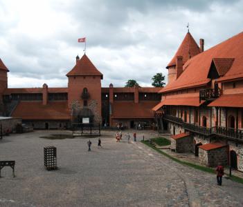 Trakai castle from inside