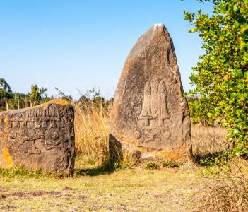 Archeological site Tiya Ethiopia