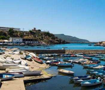 Small fishing port in El Kala Annaba Algeria