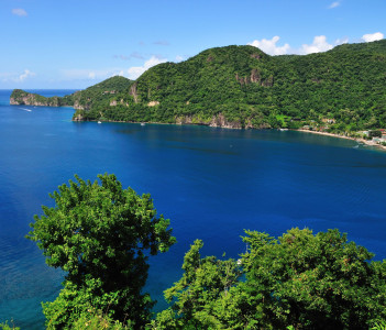 Bay of Soufriere in the tropical island of Saint Lucia
