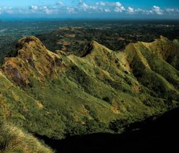 The geology and foliage of the Mt. Batulao ridge at Nasugbu in Philippines