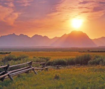 Sunset over the Grand Teton