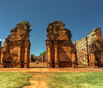 Ruins of San Ignacio in Argentina