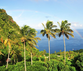 The bay of Piton in Saint Lucia