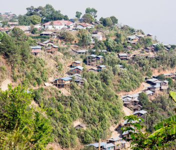 Chin Village on mountain, Mindat City, Chin State, Myanmar