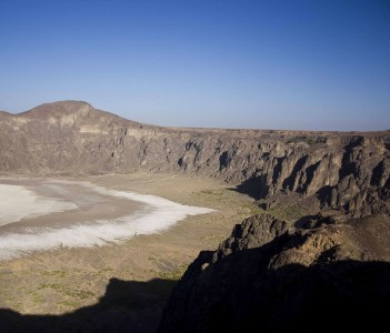 Volcanic crater inactive for hundred of years, to the north of Taif city.