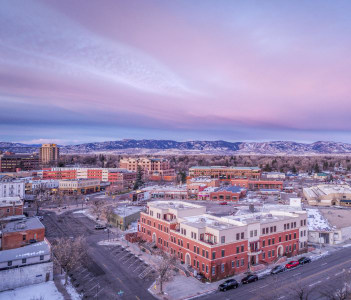Downtown of Fort Collins in Colorado USA