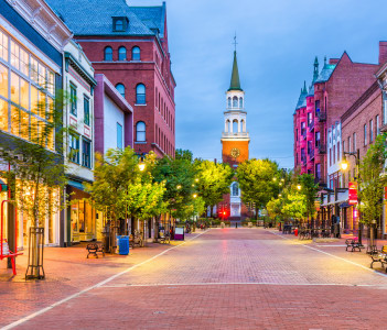 Church Street Marketplace, Burlington, Vermont, USA