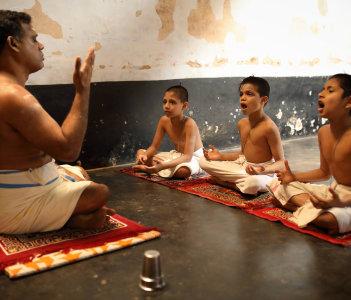 Traditional Namboodiri Brahmin school Trichur India