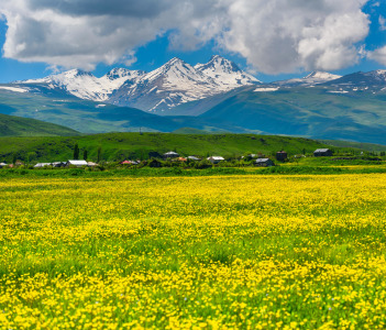 Beautiful view of Mount Aragats in Armenia