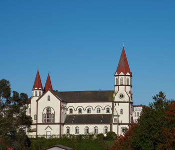 Historic Catholic Church of the Sacred Heart of Jesus in Puerto Varas, Chile
