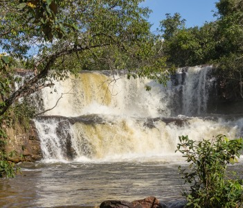 Waterfalls between Rondonopolis and Cuiaba Mato Groso Brazil