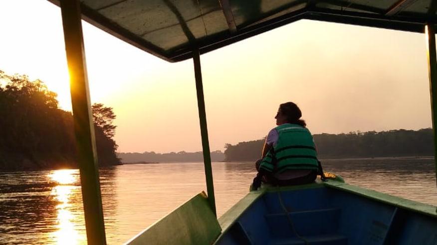 Sunset along the Tambopata River Tour