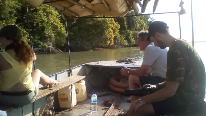 Boat trip on the river Gambia