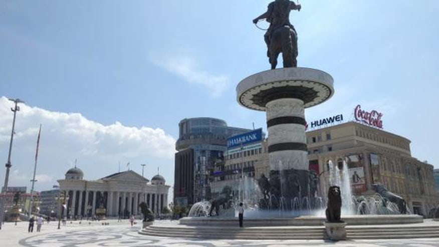 Aleksander the Great Statue, Square Macedonia