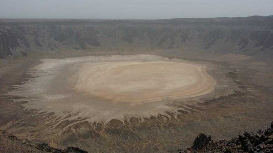 The crater at Al Wahbah