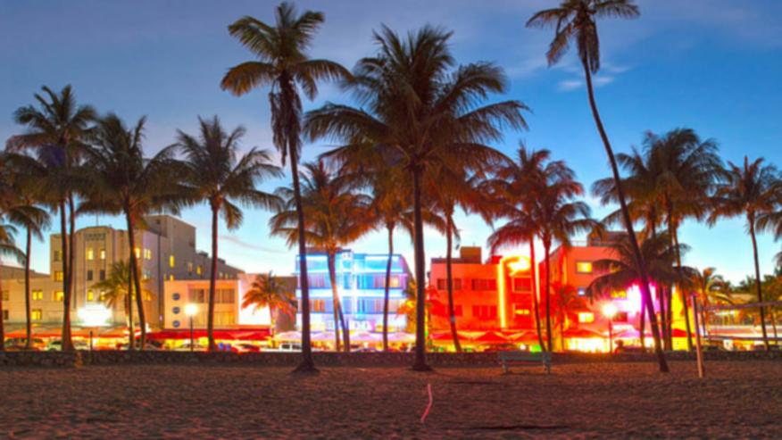 Miami beach on the Art deco weekend