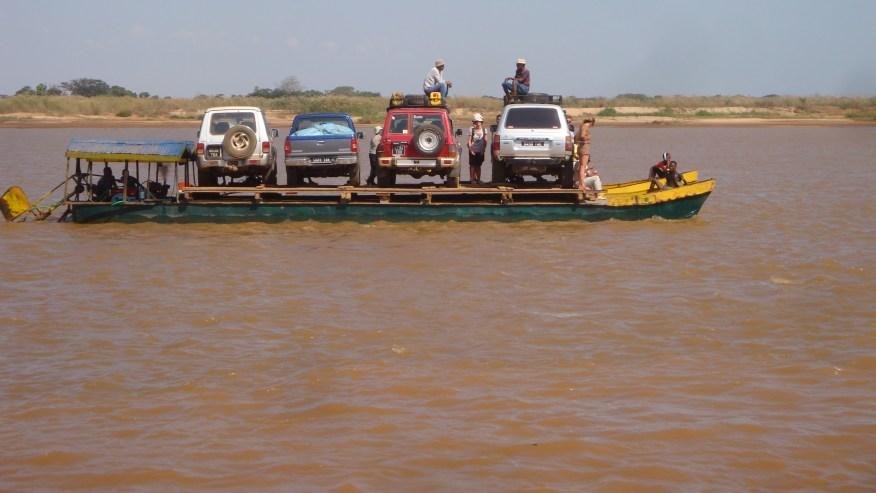 Boating in river in Madagascar