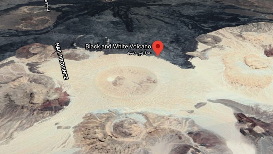 black and white crater adventure