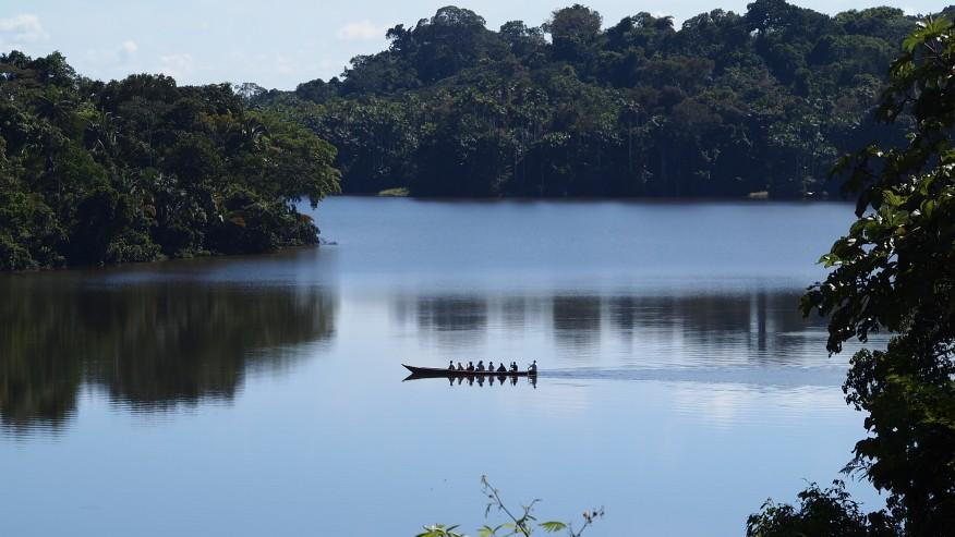 Canoe trip on Lake Sandoval tour