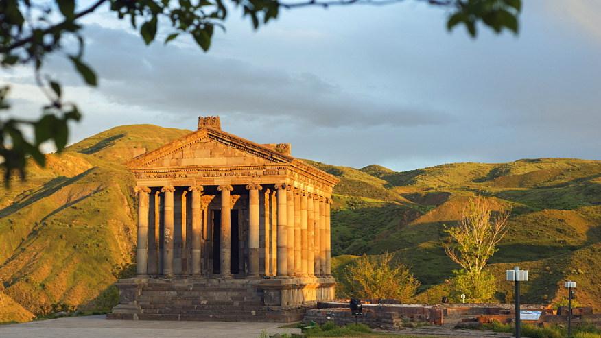 Garni temple (1st century A. D. Graeco-Roman pagan temple devoted to Mithras)