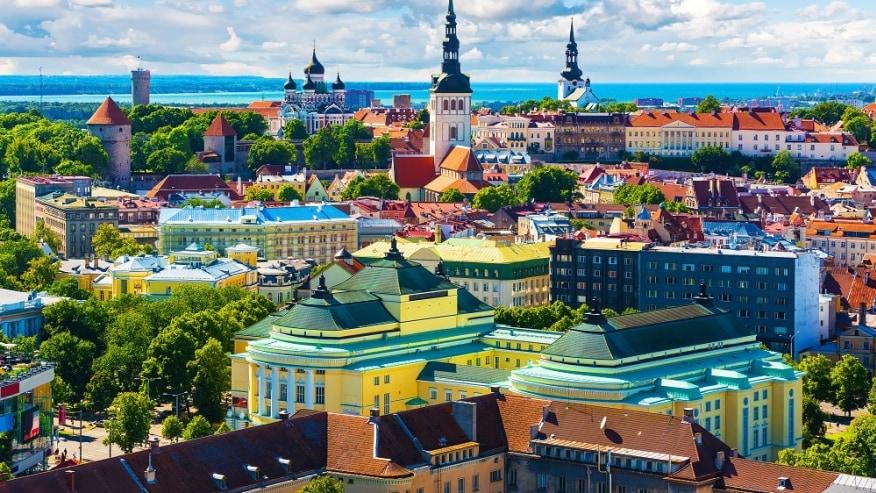 The colourful buildings of Tallinn
