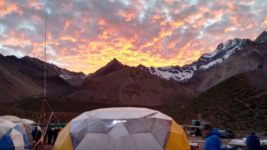 View of the peak from the campsite