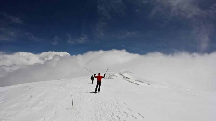 Thrilling snow climbs
