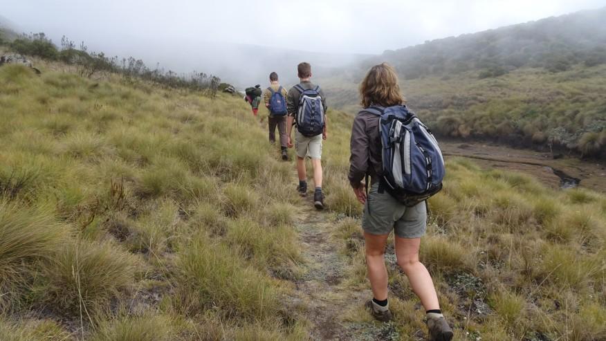 Trekking at Mount Kenya