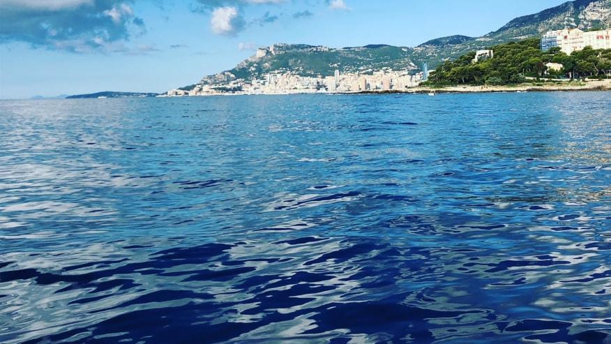 blue waters of the Mediterranean Sea