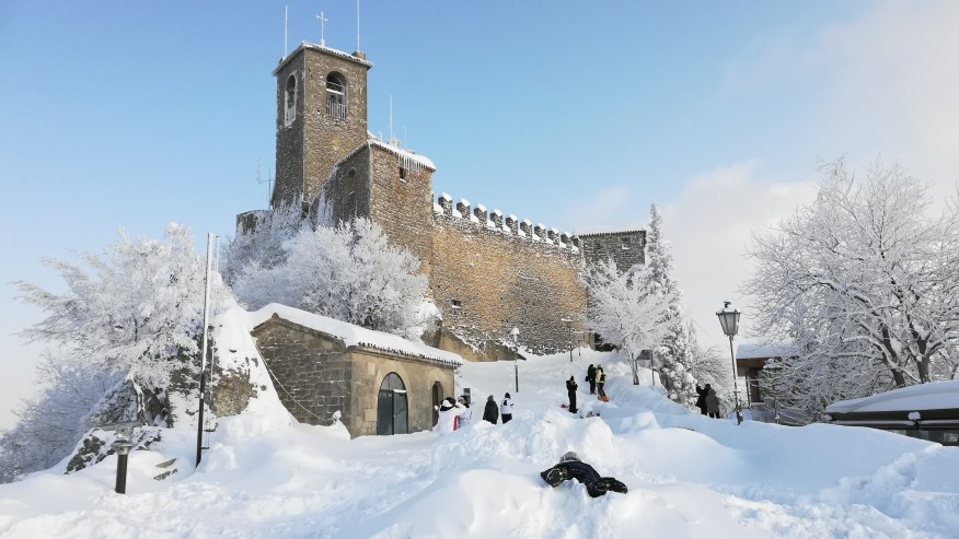 First tower with snow