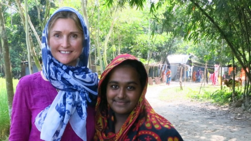Foreign Traveller visit local Village