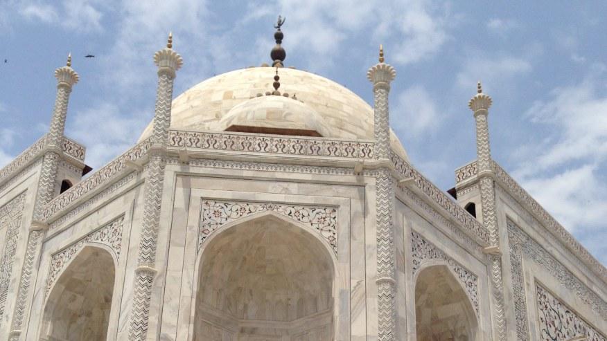 Admire the marble mausoleum