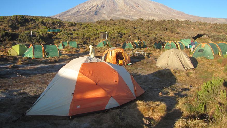 Camp II Rongai route