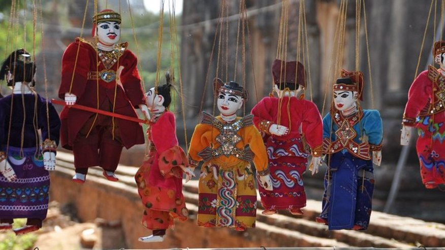 Puppets made by locals